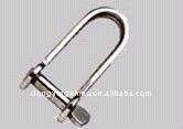 flat shackle with key pins