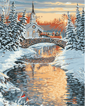 2017 New Design Wholesale Winter Landscape Pattern Menglei Diy Painting by Numbers