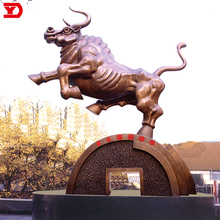 High quality customized outdoor large metal bronze bull sculpture