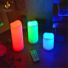 3pcs set Flameless LED Candle Light With 18 Keys Remote Controlled Timer Function Color Changing Led Candle Light Wholesale