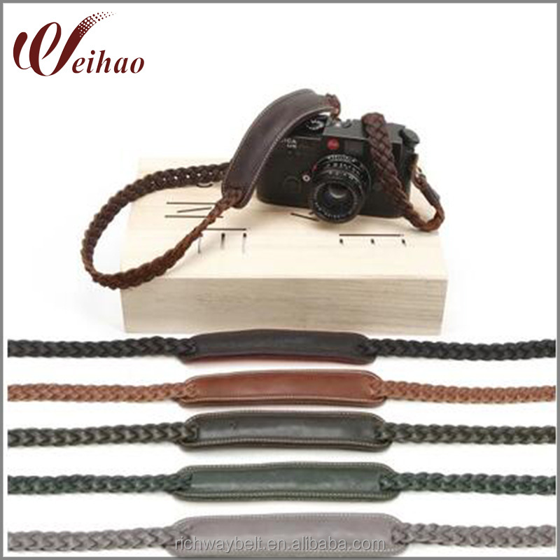 camera strap supplies genuine leather briaded camera shoulder strap