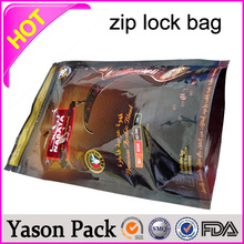 Yason matte customized printed ziplock tea bag side seal laminated aluminum foil mylar zipper top bags ace king strawberry potp
