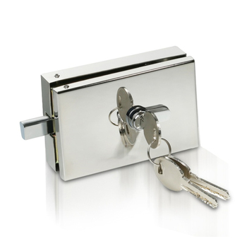 stainless steel frameless glass door patch fitting center lock