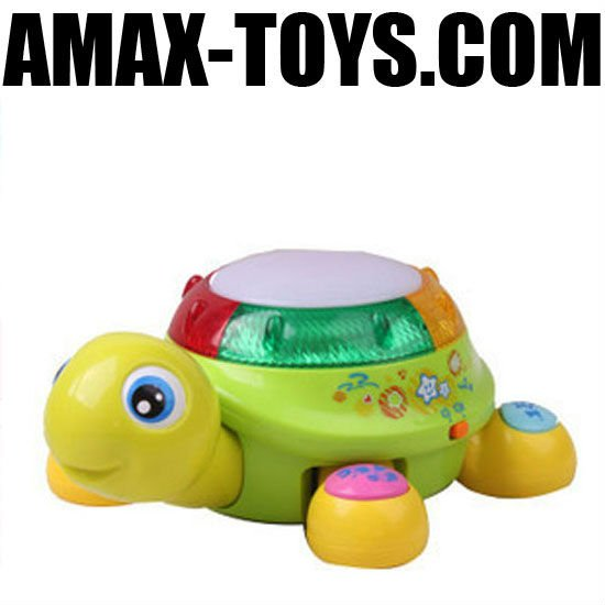 bte-569596 Multifunctional electric cartoon tortoise with music and light