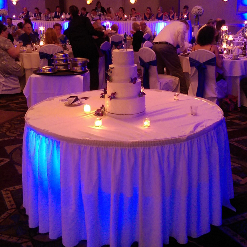 Portable Battery Operated Under Table Led Light For Weddings