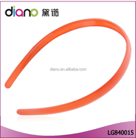 2016 wholesale simple design crystal monochromatic elastic hair band with mini teeth