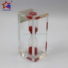 fashion in 2015 transparent Acrylic frame sandclock for gift