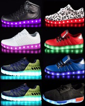 led top brand shoes sneakers 500+designs new with CE sizes for sneakers, top brand shoes led
