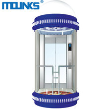 China Manufacture observation/panorama passenger Speed 1.0~2.5m/s home small elevator lift