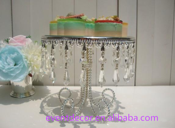 Trade Cake Stands : Mirror metal cake stand silver for wedding stands