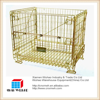 Mesh box wire cage metal bin storage pet preform container