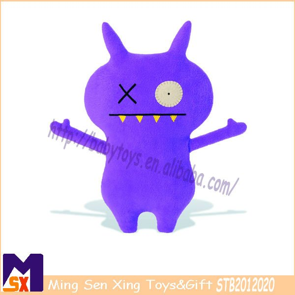 attractive purple ugly plush toy kids favorite stuff monster toy