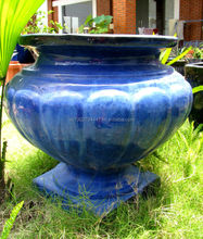 [wholesale] Outdoor glazed urns - Garden urns & vaes - Green glazed planters & pots - Vietnam pottery Manufacturer