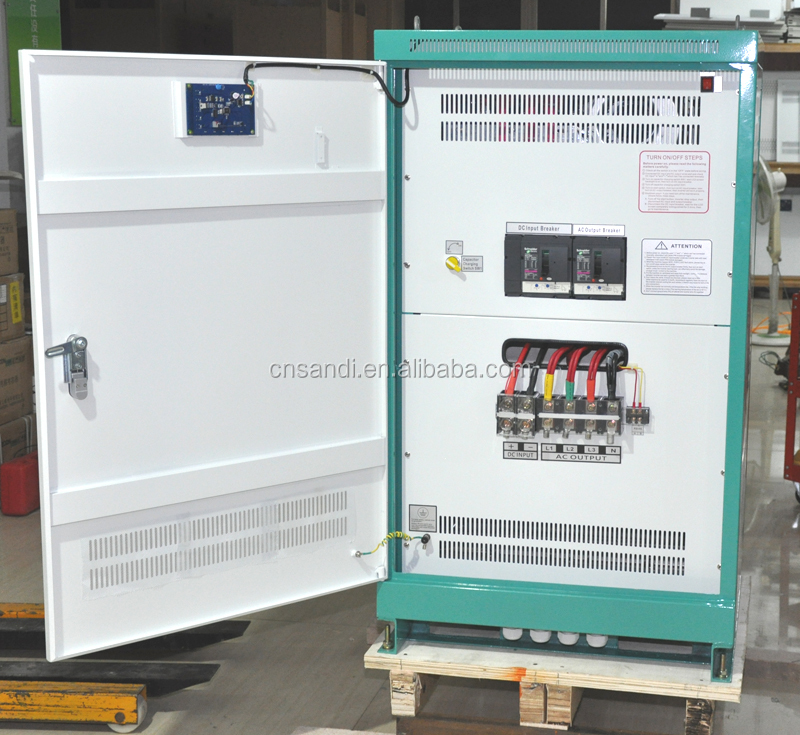 60KW off grid hybrid solar inverter with AC bypass function
