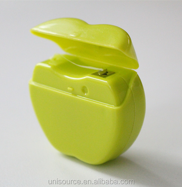 Green Apple Shape Dental Floss Container