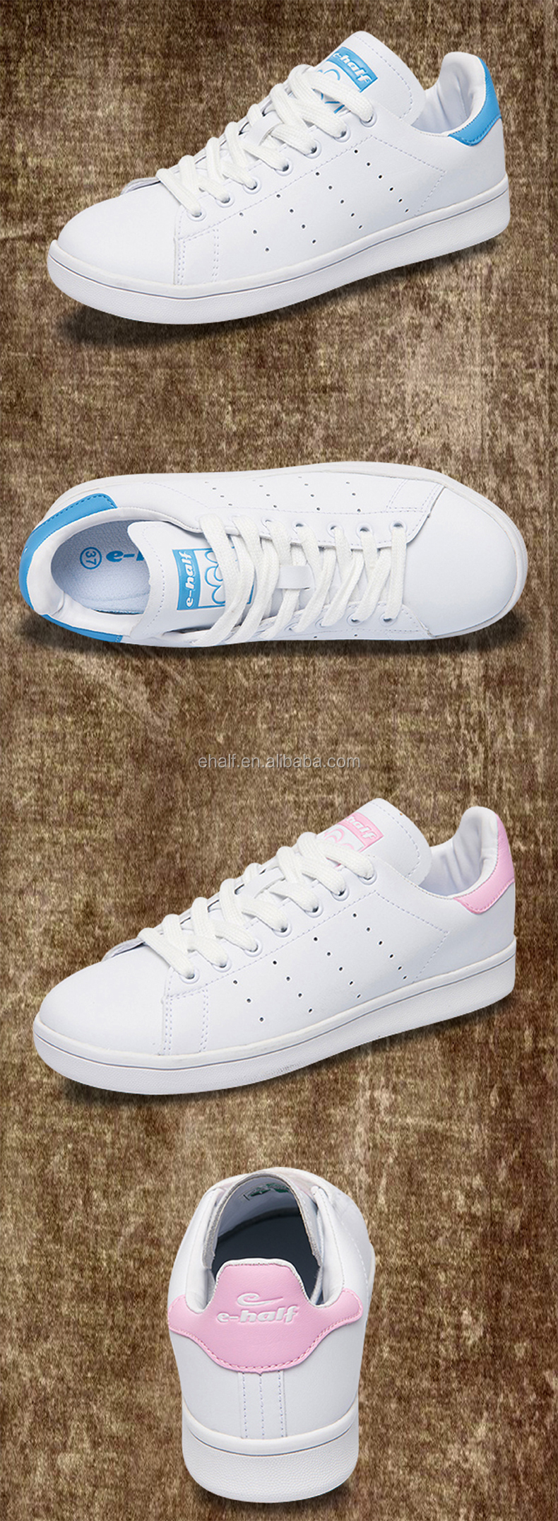 2017 hot sale mens fashion leather white casual shoes sneakers dubai shoes