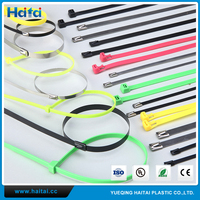 Haitai Factory Direct Plastic Covered Stainless Steel Sable Ties/Nylon Cable Tie/Cable Clamp