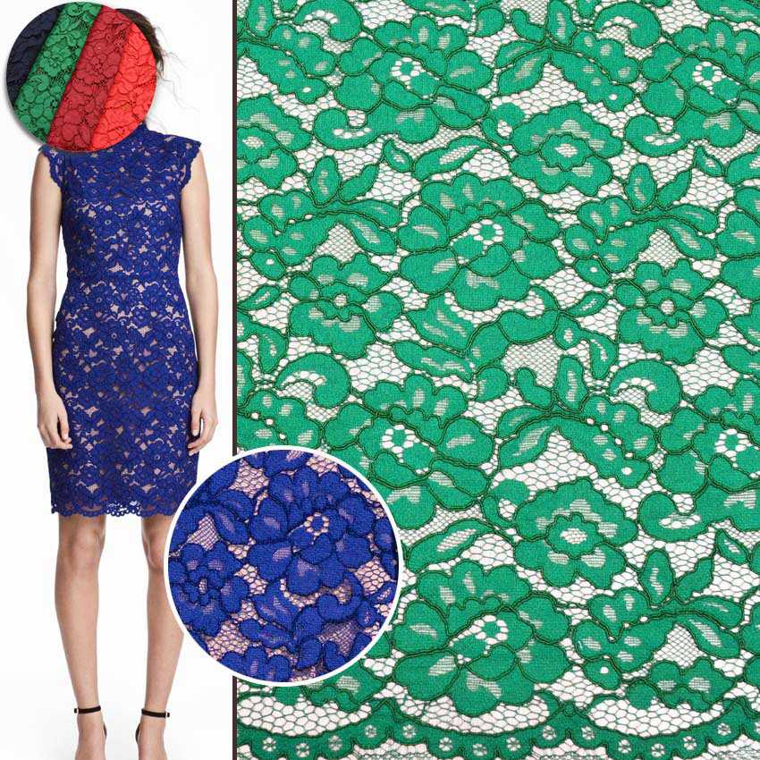 Cotton embroidery fabric 100% quality guarantee guipure lace dress fabric for making clothes