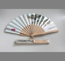 custom design paper wooded handheld fan for gifts