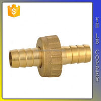 Durable brass elbow with compression ends, sand blasted and raw surface LB-P9106
