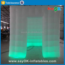 portable inflatable spray photo booth kiosk on promotional