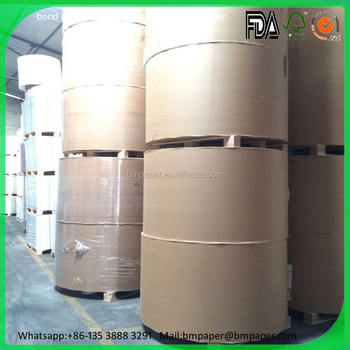 100% wood pulp offset paper / offset paper cup roll