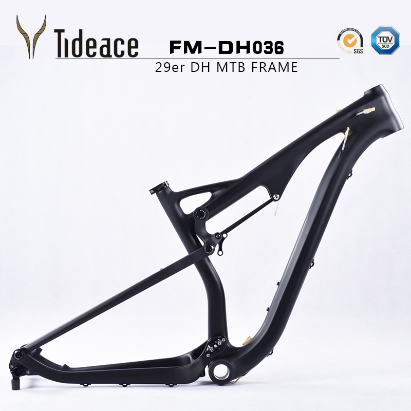 29er Full suspension T800 carbon fiber mountain bike frames DO ANY PAINTING carbon MTB bicycle frameset OEM frame