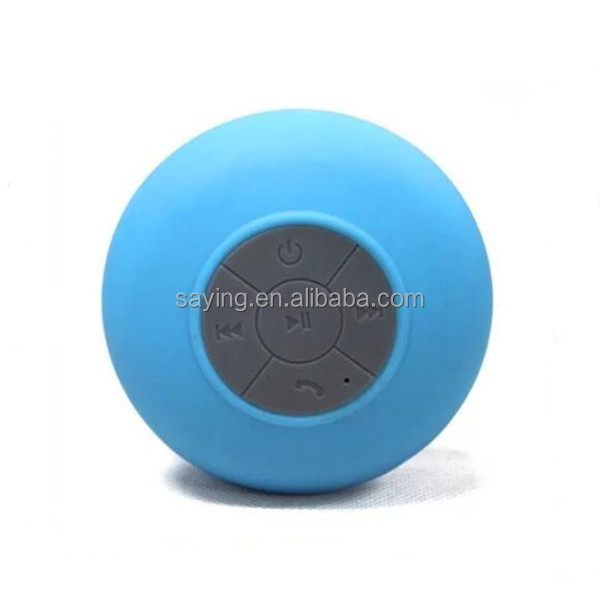 Innovative products 2016 Waterproof Bluetooth Speaker With Silicon Suction Cup for phone