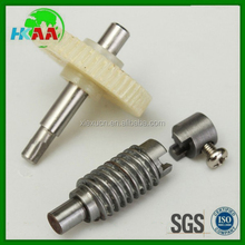 High quality plastic nylon Worm gear Wheel and shaft