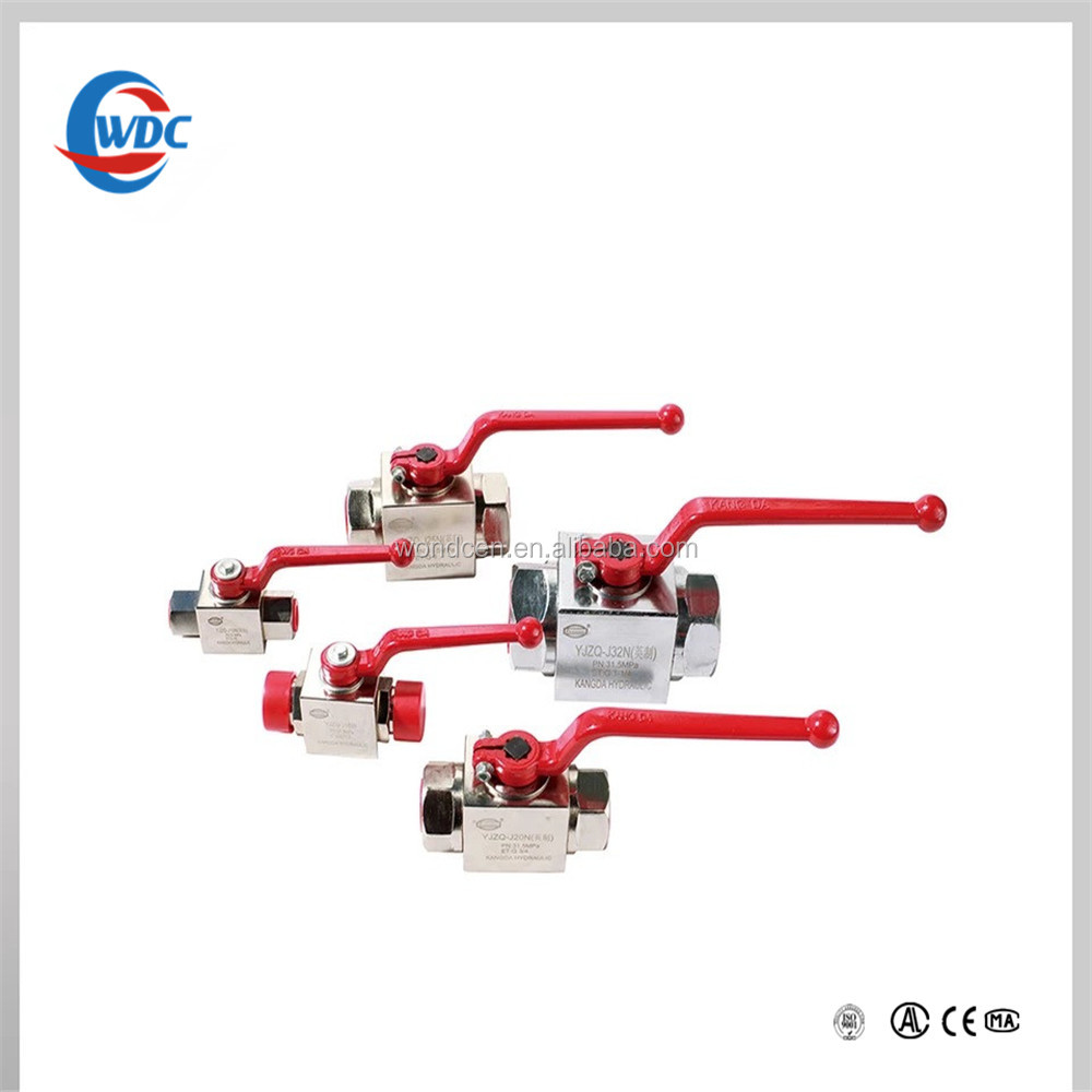 stainless steel high pressure hydraulic ball valve