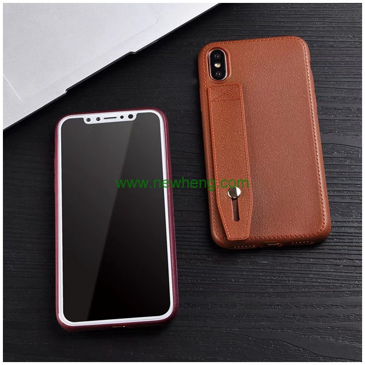 Leather cell phone case cover TPU shockproof protective case phone cover for iPhone X