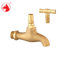 Brass polished lock tap washing tap