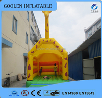 2015 New design giraffe theme inflatable castle,backyard cheap inflatable bouncers for sale