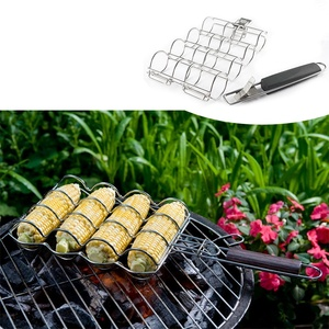 OEM Service Stainless Steel Maize Cob Basket For Outdoor Grilling Burgers/Steaks/Seafood/Vegetable/Fish/Meat/Shrimp