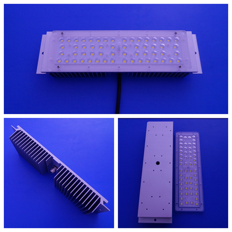 56 In One 30W Street Light LED Lens 3030 SMD LED Module 160LM/W