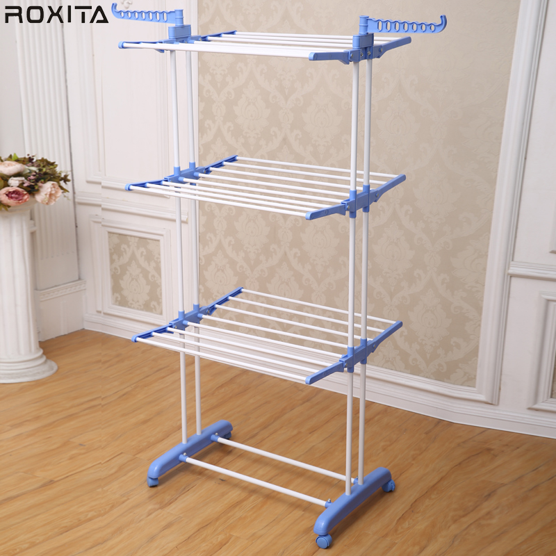 RX-300W Metal multi-purpose free standing indoor lifting laundry drying rack