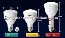 new style automatic rechargeable emergency E27 led lamp