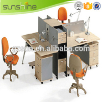 WP02 China Supply Modular Office Furniture Workstation Wood Veneer Office Partition Divider Modern Office Cubicles