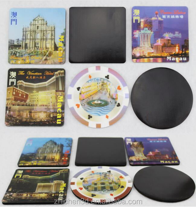custom wholesale promotional souvenir pp lenticular 3d fridge magnet
