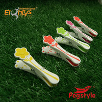 10pcs packing plastic peg clips TPR Bi-material spring clip