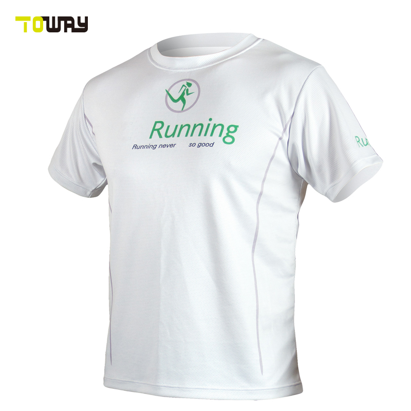 custom sublimated 100% polyester wholesale running shirt