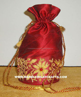 Hand Made Ribbon Embroidery Coin Bags