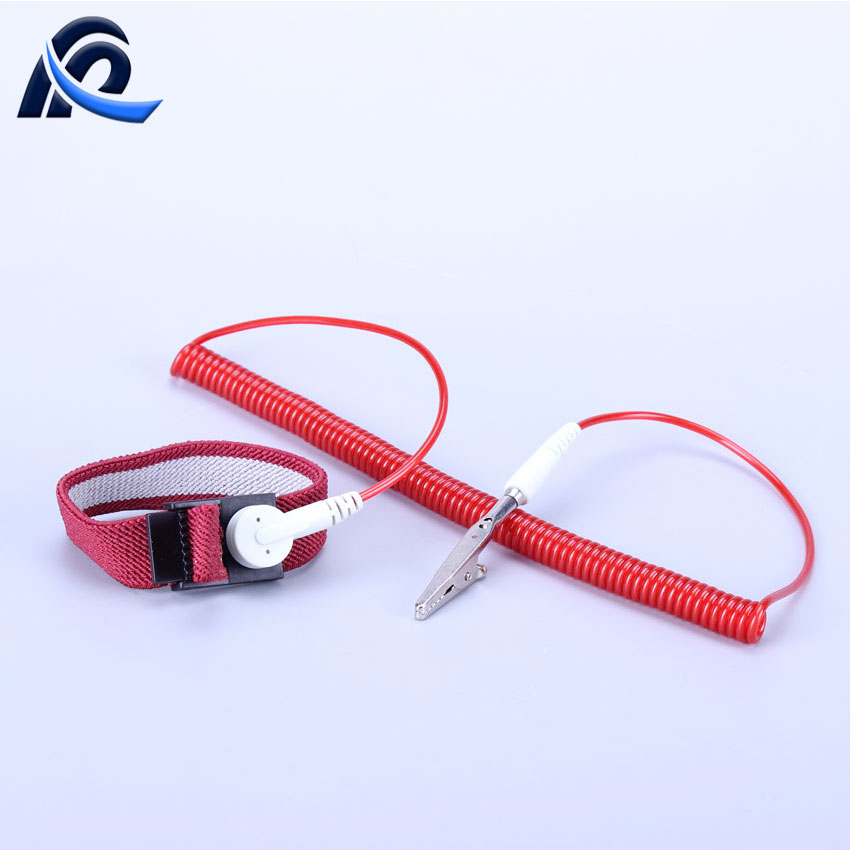 Custom Red Cleanroom Antistatic Electronic Industrial ESD Wrist Strap