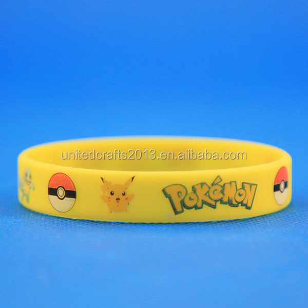 Wholesale Pokemon Go Bracelet Pokemon Go Wristband Team Instinct Silicone bracelet