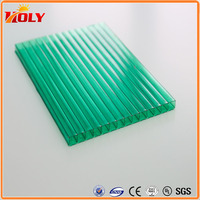 Polycarbonate hollow Sheet 2100mm*5800mm UV Protector Coating Lexan PC