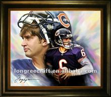 Chicago Bears Cutler Diy Painting by Numbers