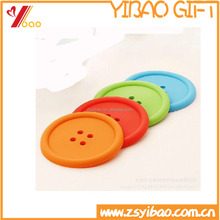 Custom silicone coaster /silicone cup coaster/silicone cup mat with logo printed