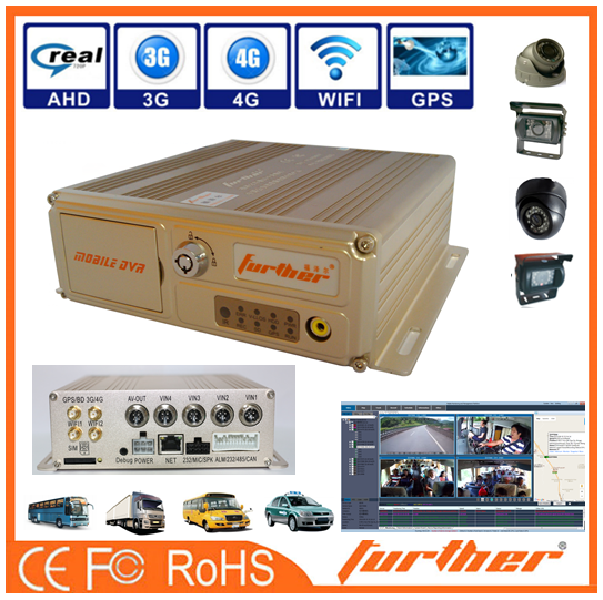 3g mobile dvr and GPS Popular MObile dvr for Vehicle monitoring system /720P 3G GPS WIFI 4 Channel SD card Mobile DVR