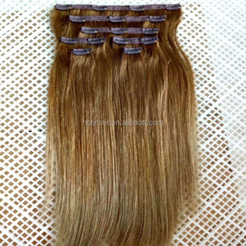 Ombre colored lace full head Russian Brazilian Indian remy human lace clip in hair extensions
