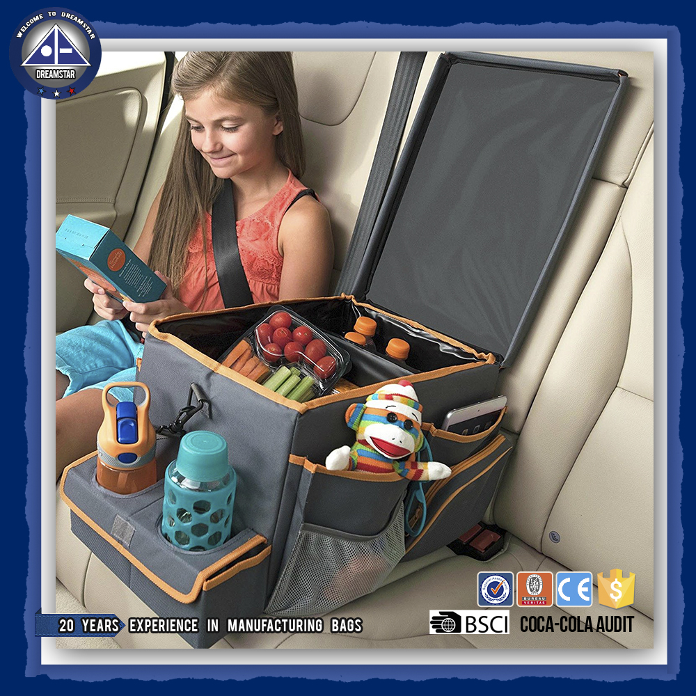 Car Trunk Organizer Kids Car Seat Cooler and Back Seat Organizer